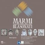 Locandina mostra Marmi Blasonati
